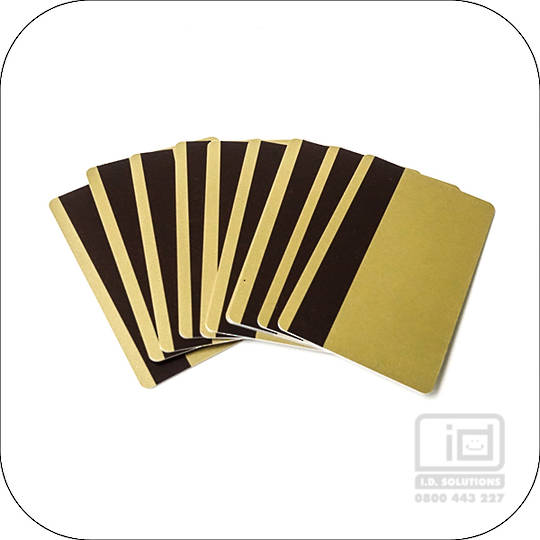 Blank Cards with Magnetic Stripe Gold HiCo