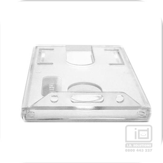 LX98C rigid clear plastic card holder