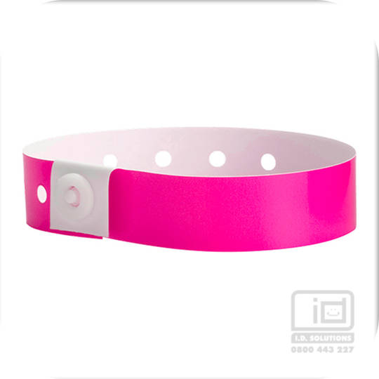 Soft Comfort Wristbands Neon Pink