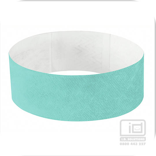25mm Tyvek Wristband Aqua