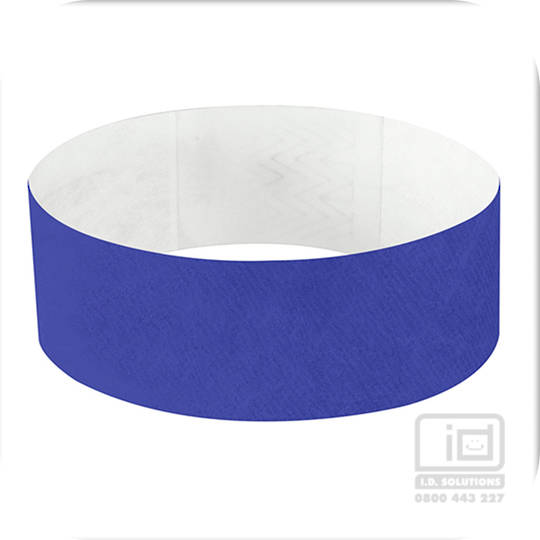 25mm Tyvek Wristband Blue