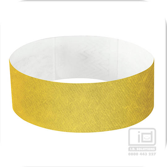 25 mm Tyvek wristband Gold