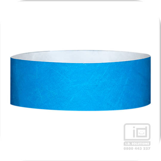25mm Tyvek Wristband Light Blue