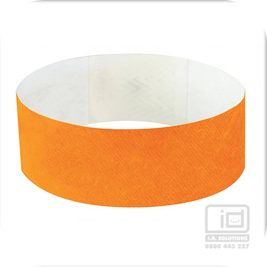 25mm Tyvek Wristband Neon Orange