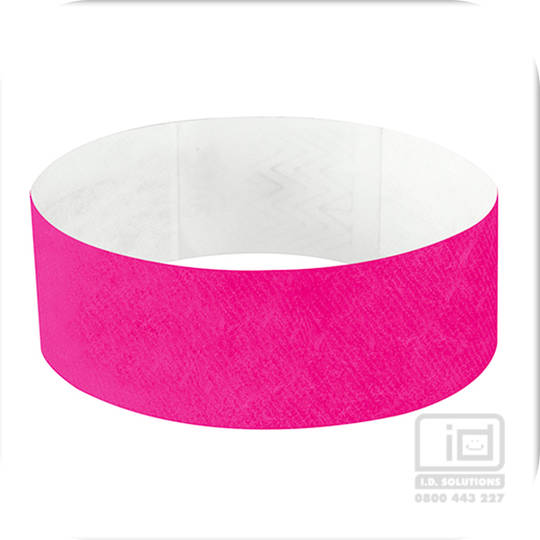 25 mm Tyvek wristband bright pink