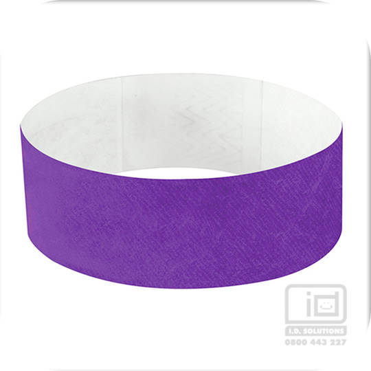25mm Tyvek Wristband Purple