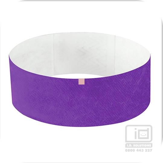25 mm Tyvek wristband purple