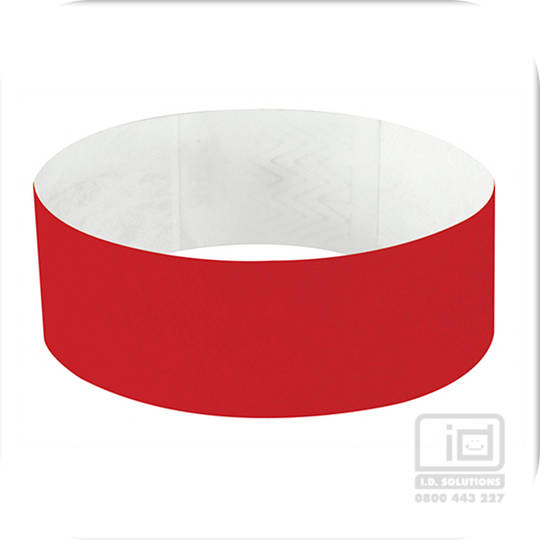 25mm Tyvek Wristband Red