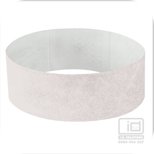 25mm Tyvek Wristband White
