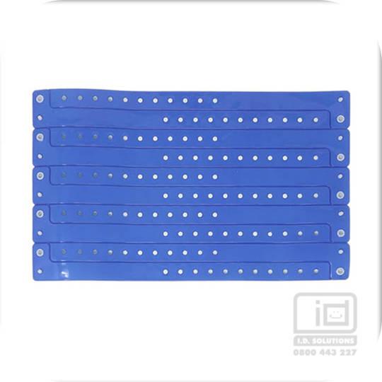 Premium Vinyl Wristbands Neon Blue