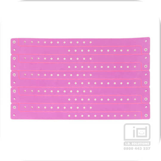 Neon pink vinyl wristband (14)