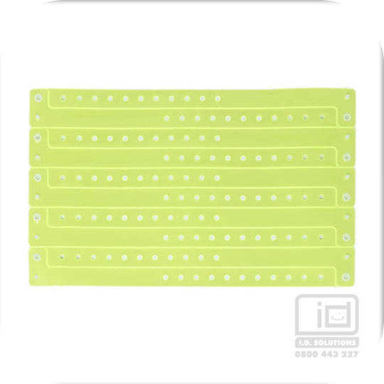Premium Vinyl Wristbands Neon Yellow