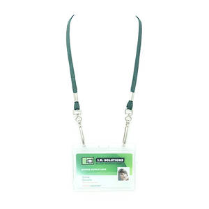 Forest Green Tube Lan with 2 Swivel Hooks - 8mm wide