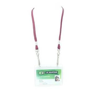 Maroon Tube Lan with 2 Swivel Hooks - 8mm wide