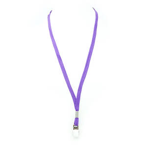 Purple Tube Lan with Bulldog Clip - 8mm wide