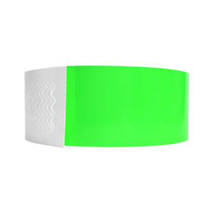 Biodegradeable Wristbands Neon Lime