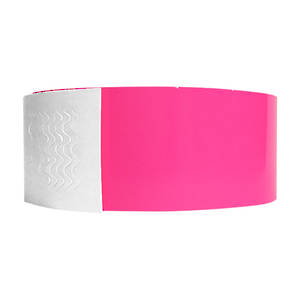 Biodegradeable Wristbands Neon Pink
