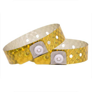 Holographic Wristbands Gold