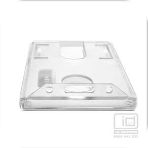 LX98C rigid clear plastic card holder