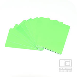 Blank Cards Neon Lime