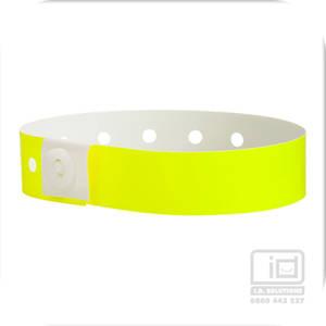 Soft comfort wristbands Yellow Glow