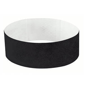 25mm Tyvek Wristband Black