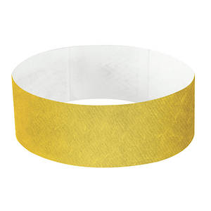 25mm Tyvek Wristband Gold