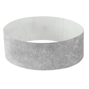 25mm Tyvek Wristband Silver
