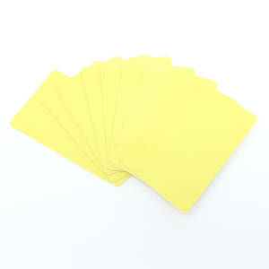 Blank Cards Yellow