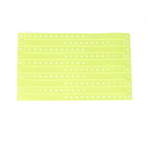 Neon Yellow vinyl wristbands (15)