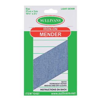 Iron on Mender Light Denim