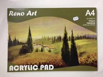 Acrylic pad A4 - Reno Art