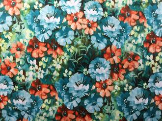 Floral pattern, different tones
