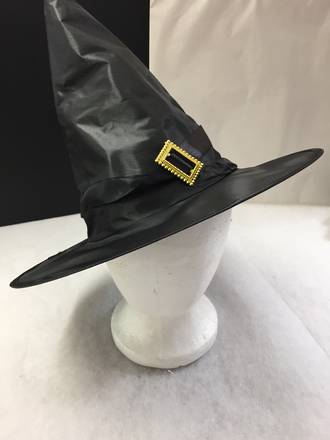 Witches Hat - black with gold buckle