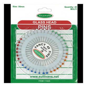 Glass head pins 11025