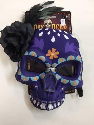 Day of the dead mask - purple