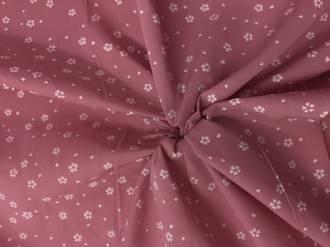 White flower on Pink blush ground