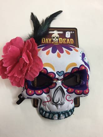 Day of the dead mask - white