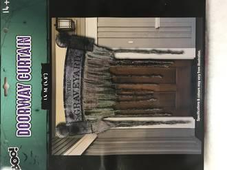 Doorway curtain - The graveyard