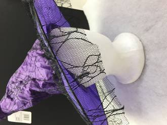 Witches hat Purple and black net