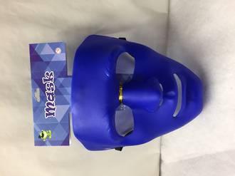Blue plain mask