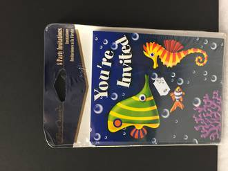 Under the sea invitation cards