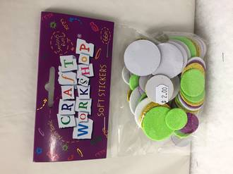 Soft stickers - circles - Craft workshop