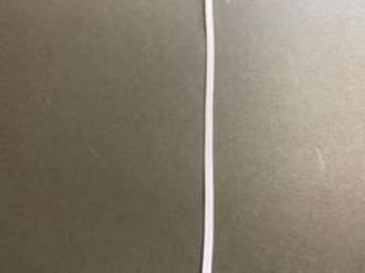 6mm Flat Elastic White