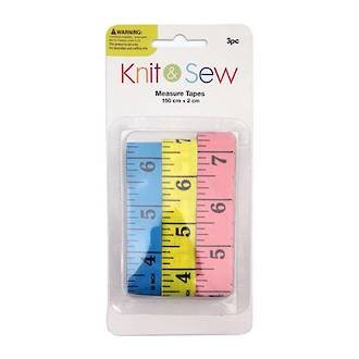 Measure tape - 3pk - Knit and Sew