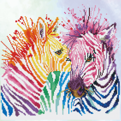 Rainbow Zebras  DD8.005
