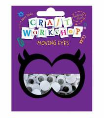 Craft Moving Eyes 100pc x 12mm