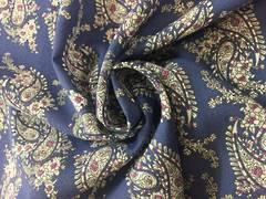 Rayon Paisley pattern on sky blue BG
