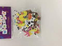 Soft stickers - farm animals - OCS0274