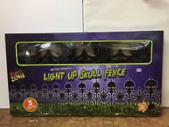 Light up skull fence - XH4459